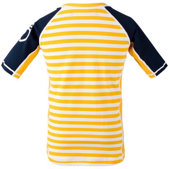 Didriksons Kids Surf Short Sleeve UPF50+ UV Sun Top | Yellow Stripe
