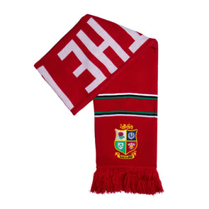 Canterbury British & Irish Lions Rugby Supporters Scarf | Tango Red | 2021 | Adult