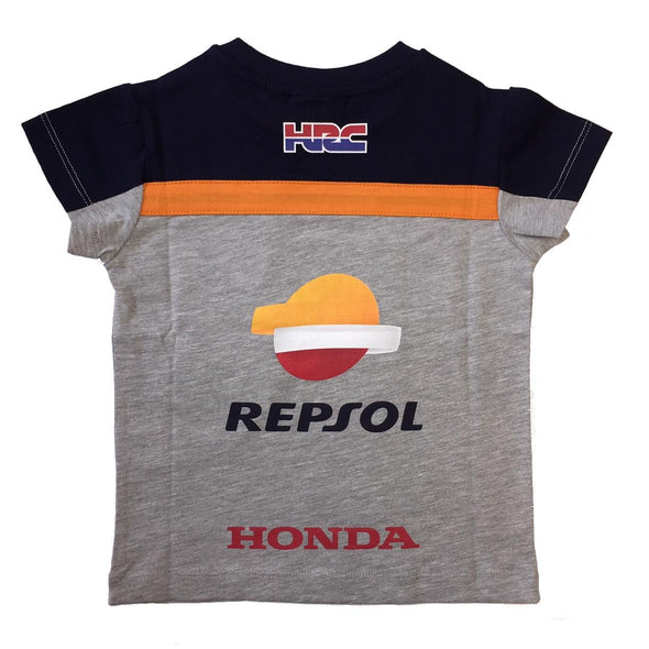 Repsol Honda Kids Orange Tape T-Shirt | Grey | 2019