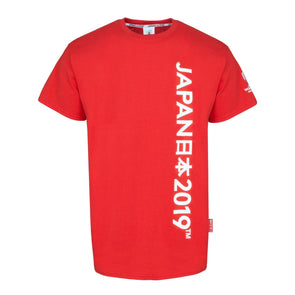 Rugby World Cup 2019 Kid's Script Graphic T-shirt | Red