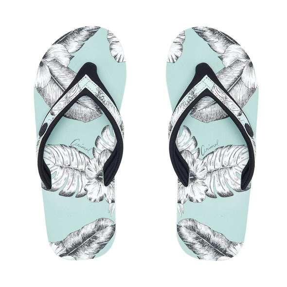 Animal Womens Swish Slim Upper AOP Flip Flops | Harbour Green