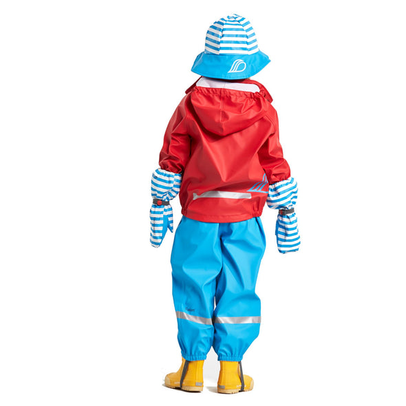 Didriksons Slaskeman Kids Waterproof Set | Chili Red