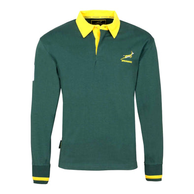 South Africa Rugby Springboks Men's Long Sleeved Rugby Shirt | Green | 2019/20 Season
