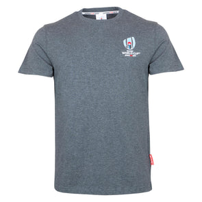 Rugby World Cup 2019 Mens Small Logo T-Shirt | Charcoal Grey