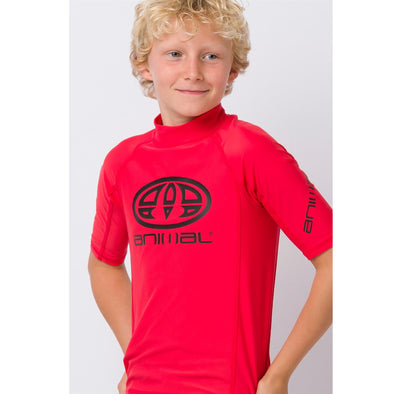 Animal Kids Hiltern Short Sleeve Rash Top | Watermelon Red