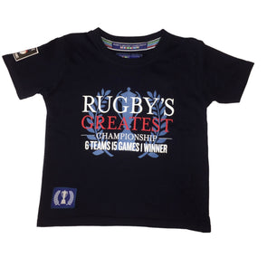Guinness 6 Nations Rugby Kids Greatest Championship T-shirt | Navy | 2019