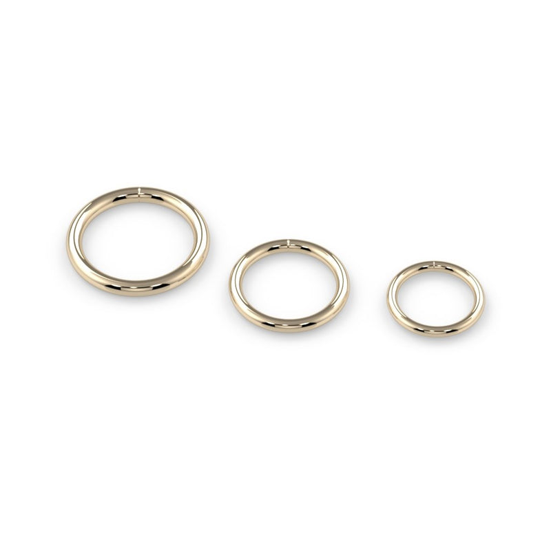 18k Gold Seam Rings