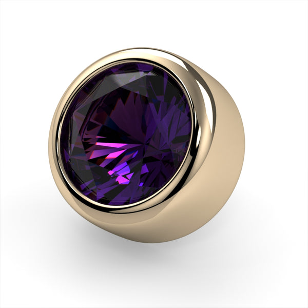Amethyst Bezel End