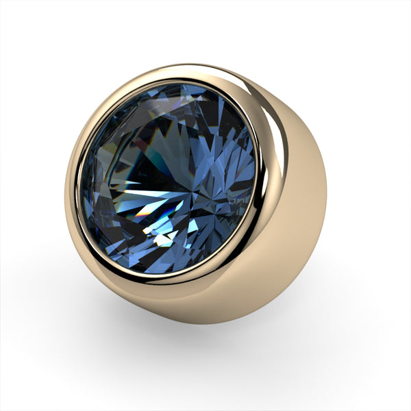 Aquamarine Bezel End
