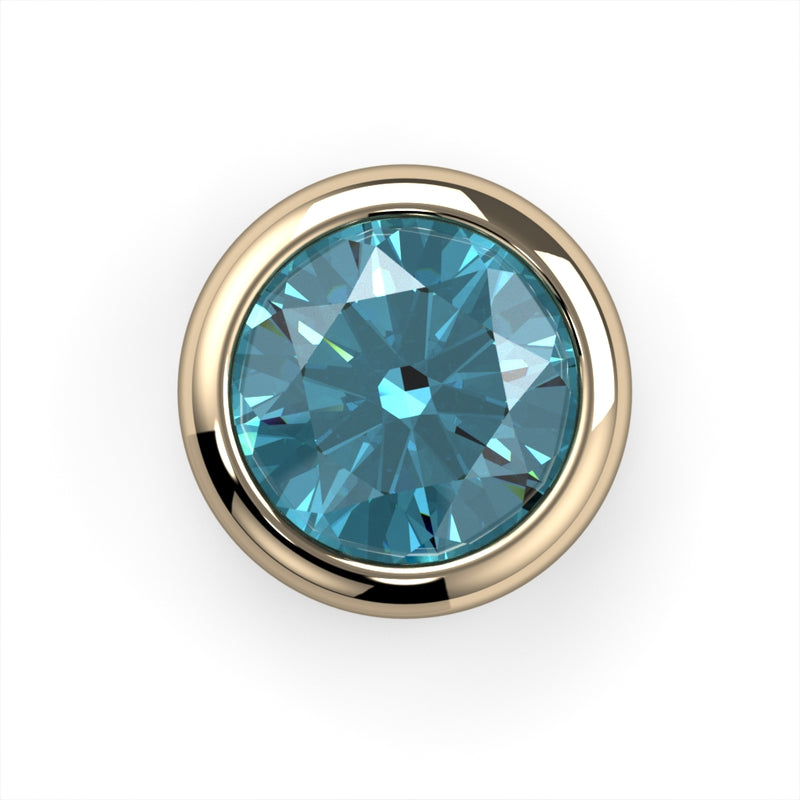 Blue Zircon Bezel End