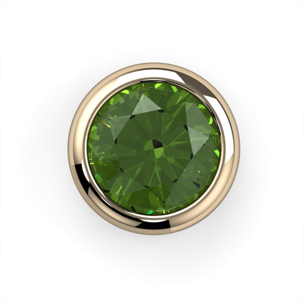 Peridot Bezel End