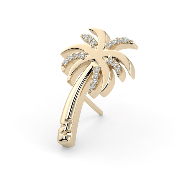 Pave Bloom Palm Tree End