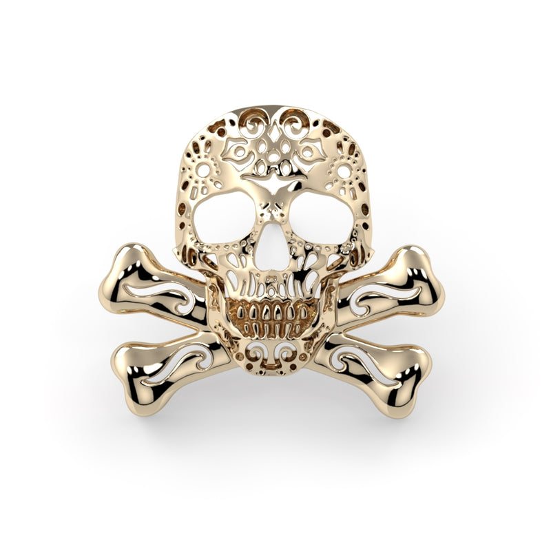 Filigree Skull & Crossbones End