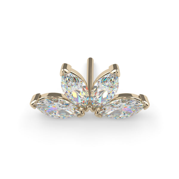 Quadruple Diamond Marquise Fan End