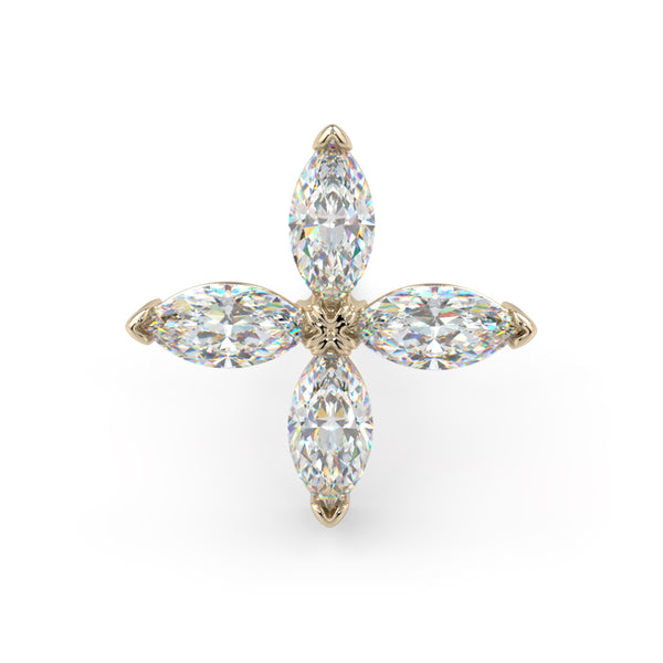 Diamond Marquise Flower End