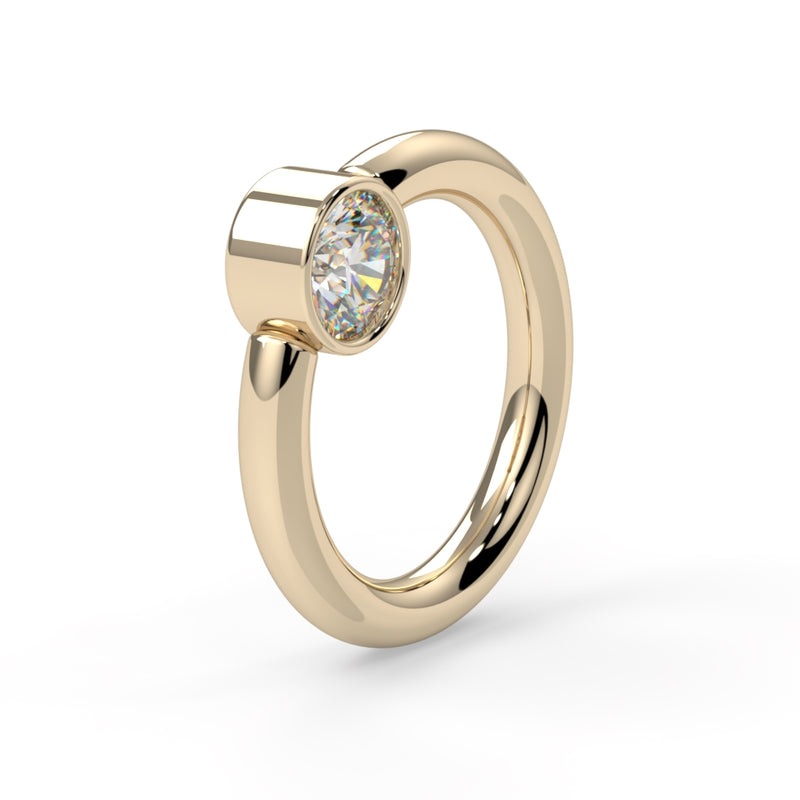 2.5mm CZ Captive Bead Ring