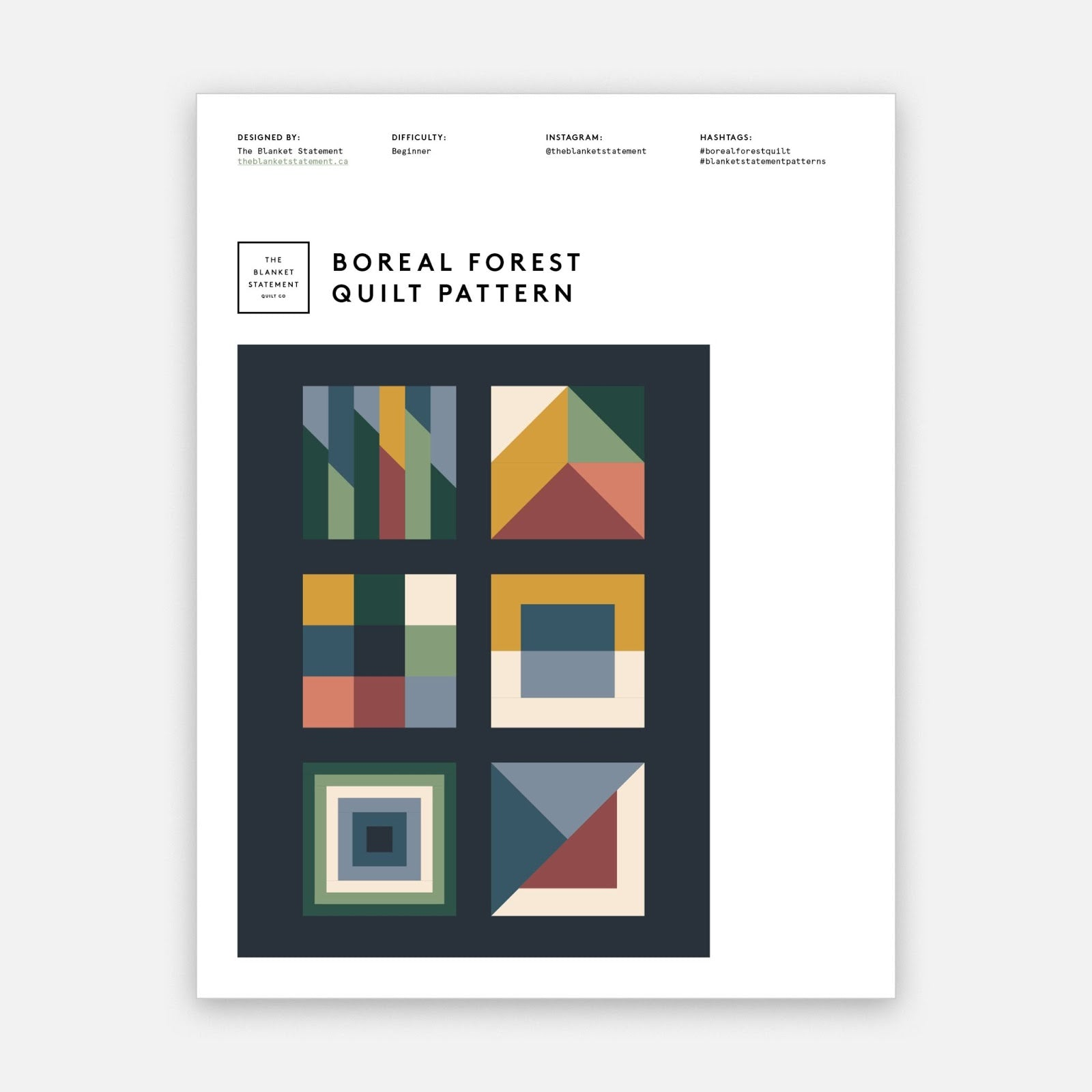 Boreal Forest Pattern Cover