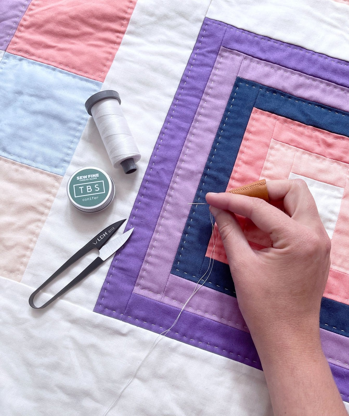 Boreal Forest Baby Hand Quilting