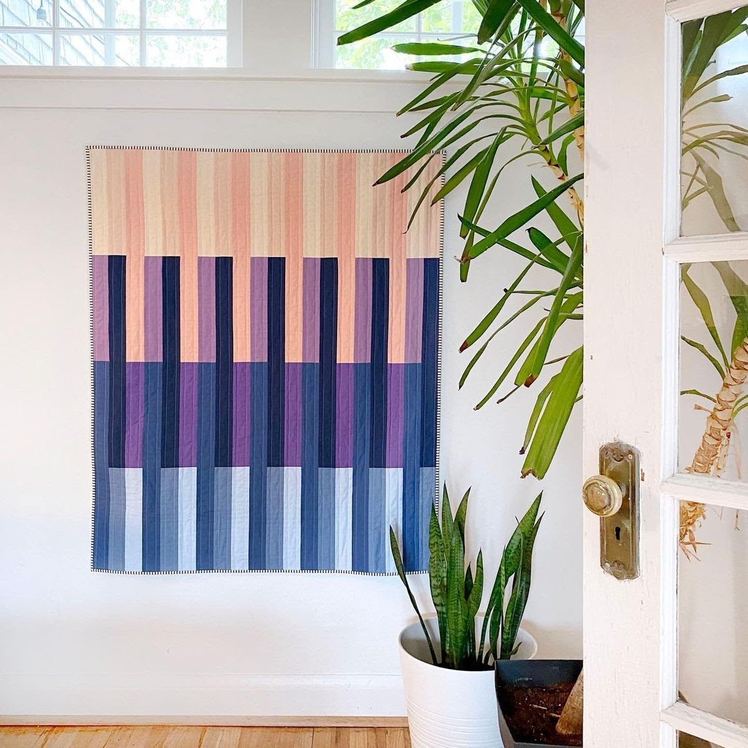 Birch Point Cover Quilt Hanging On Wall