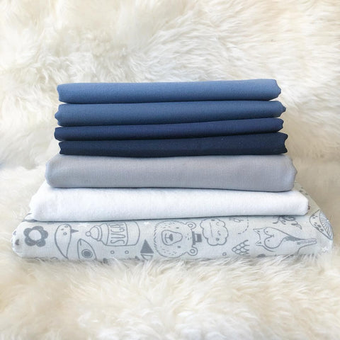 Blue Grey Cross Lake Quilt Fabric Stack