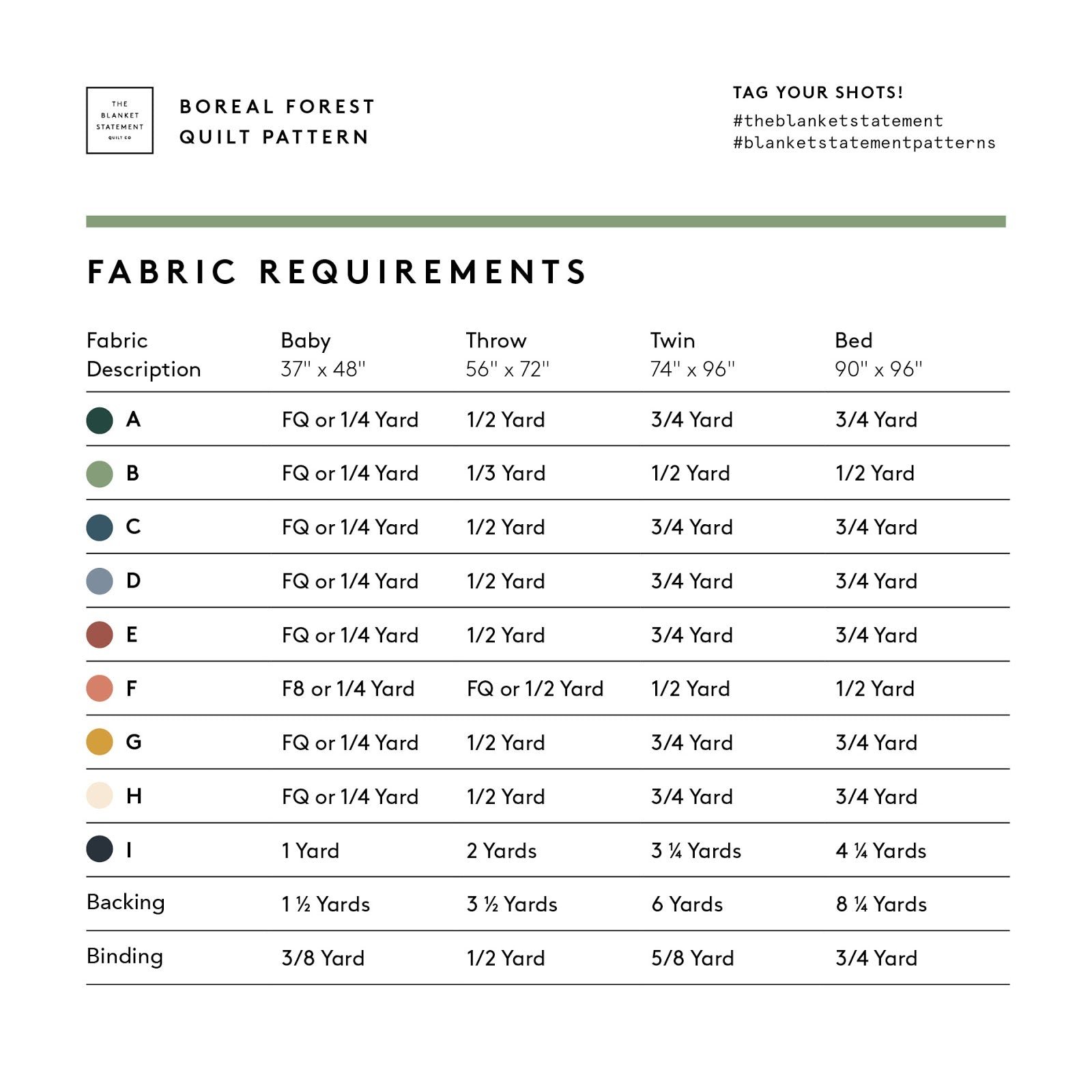 Boreal Forest Fabric Requirements