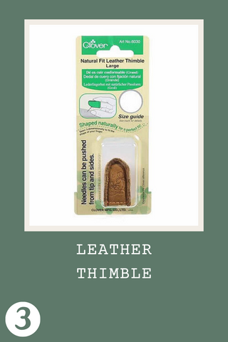 Clover Leather Thimble