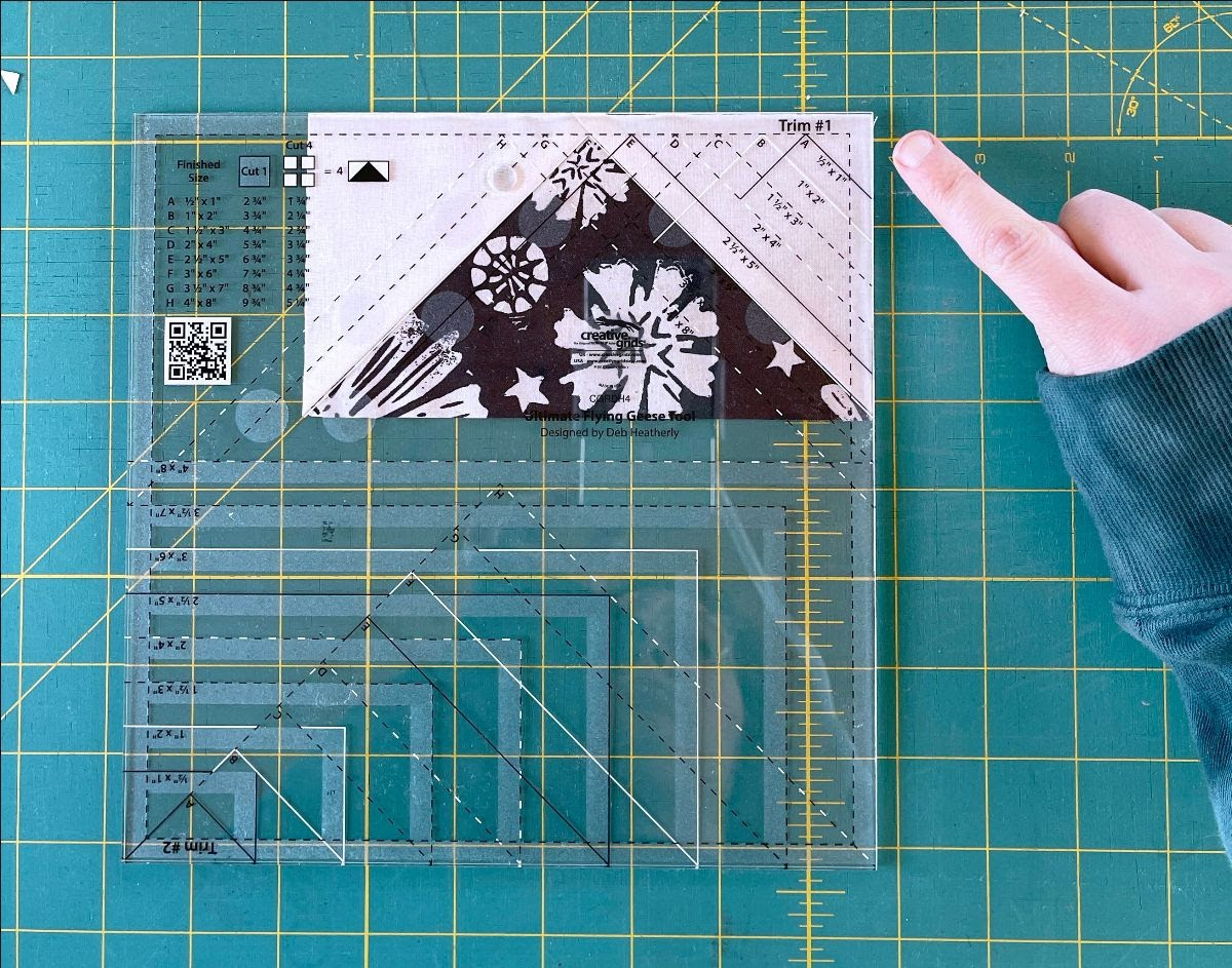 Creative Grids Flying Geese Ruler