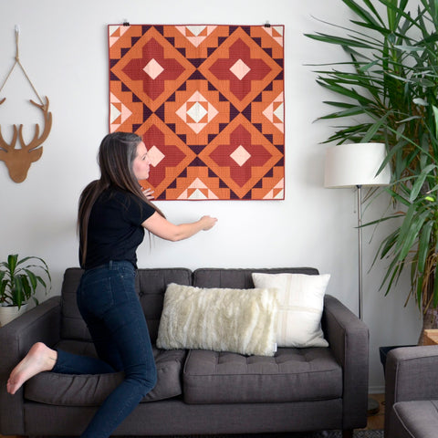 Erin With Spruce Woods Cover Quilt Wall Hanging