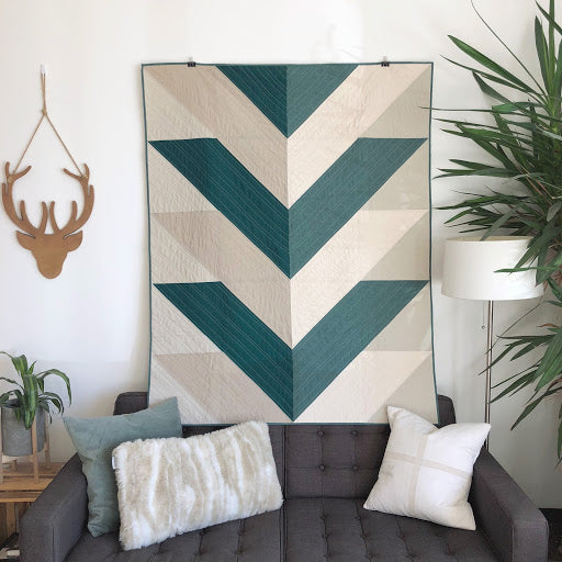 Green Reclaimed Fabric Pine Falls Quilt