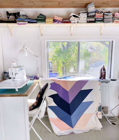 Kona Cotton Pine Falls Quilt In Sewing Room