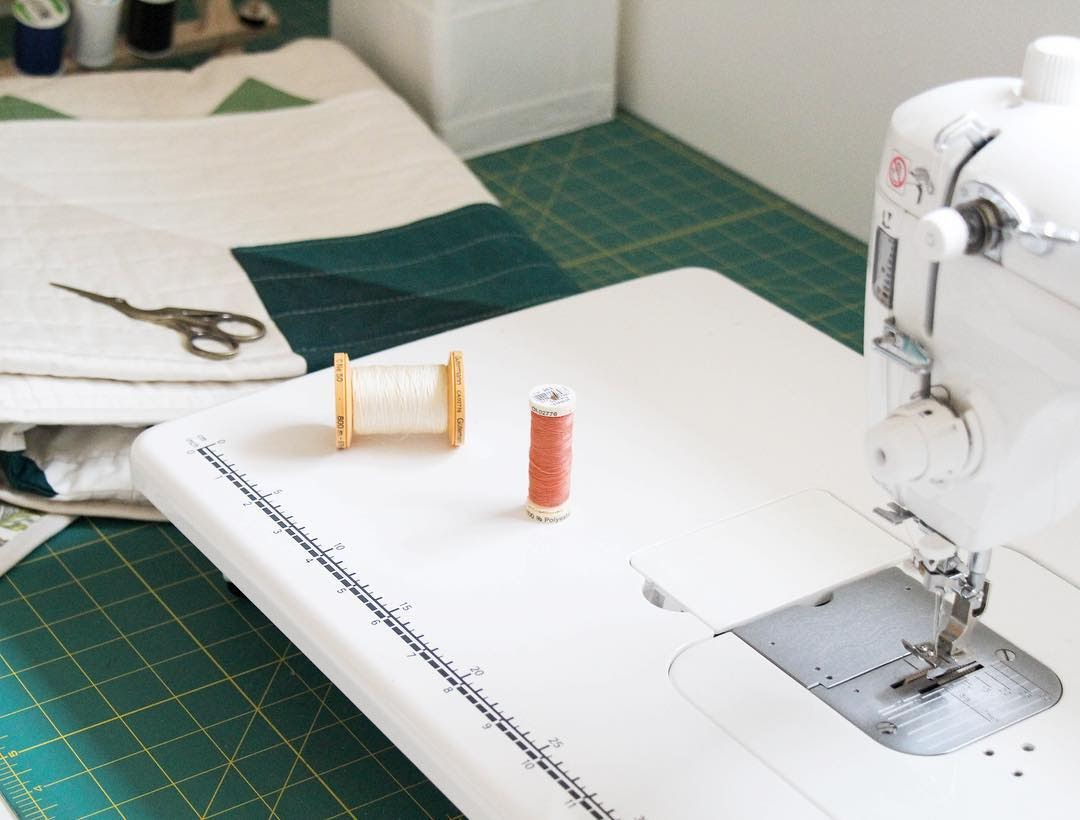 Machine With Thread and Scissors