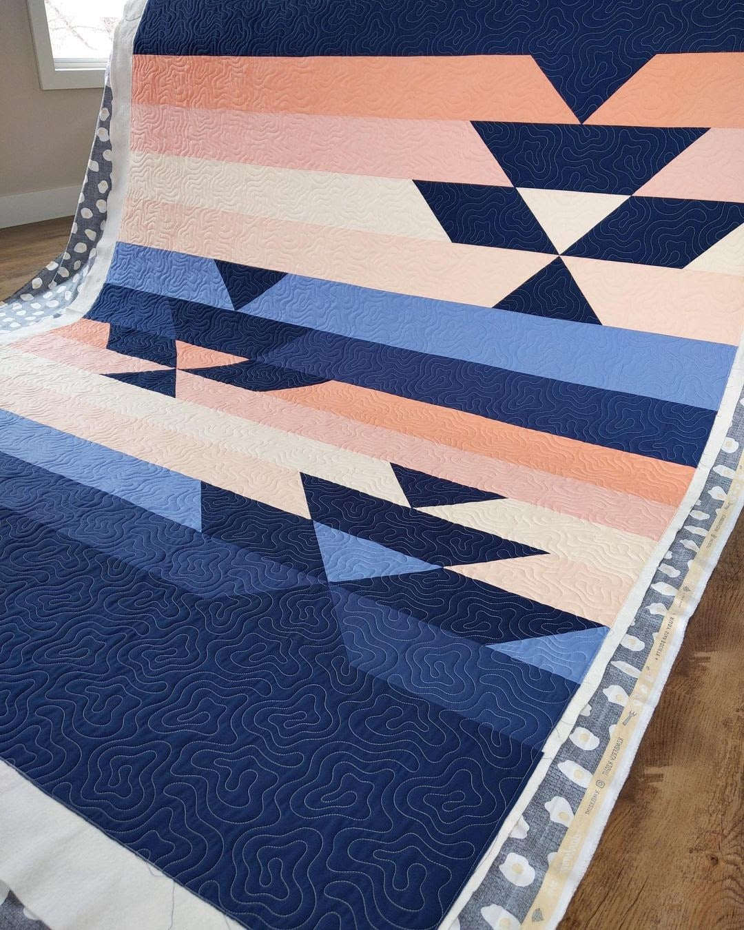 Navy West Hawk Ma Tante Quilting1