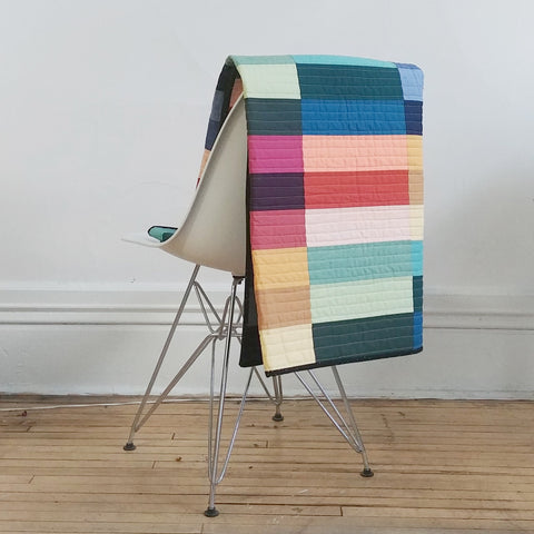 Paint Lake Cover Quilt On Chair