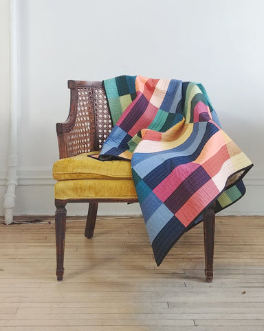 Paint Lake Cover Quilt On Vintage Chair