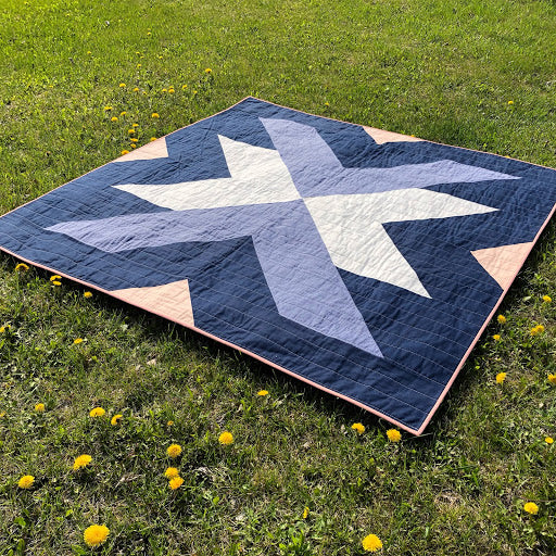 Rifle Paper Cross Lake Quilt On Grass