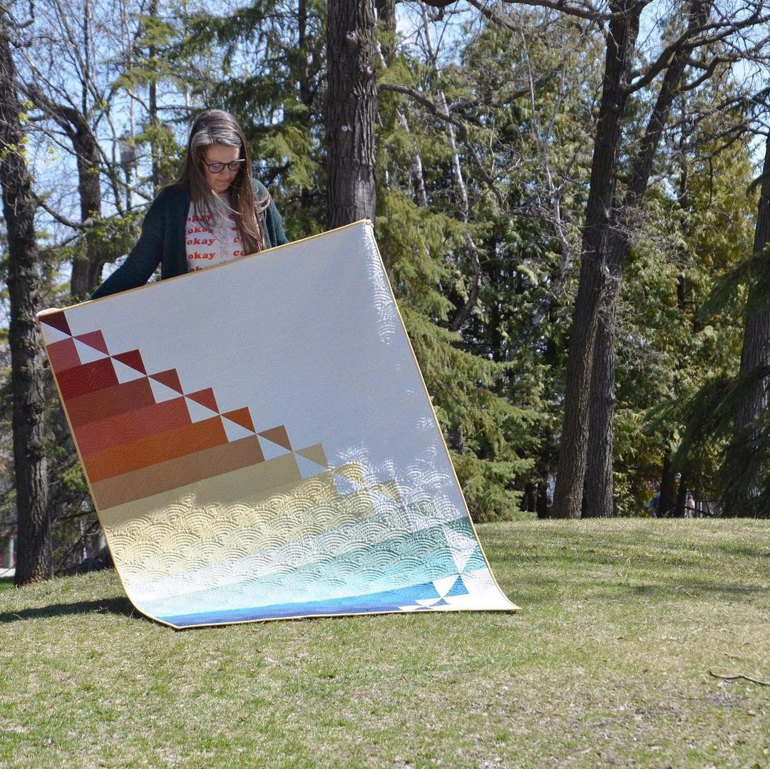 Steep Rock Cover Quilt Erin Holding