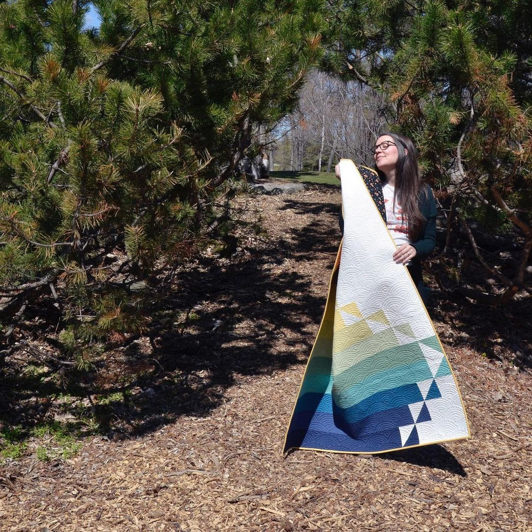 Steep Rock Cover Quilt Erin Holding 2