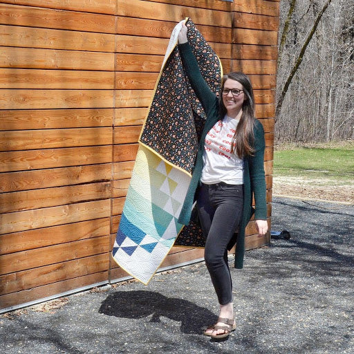 Steep Rock Cover Quilt Erin Holding 3