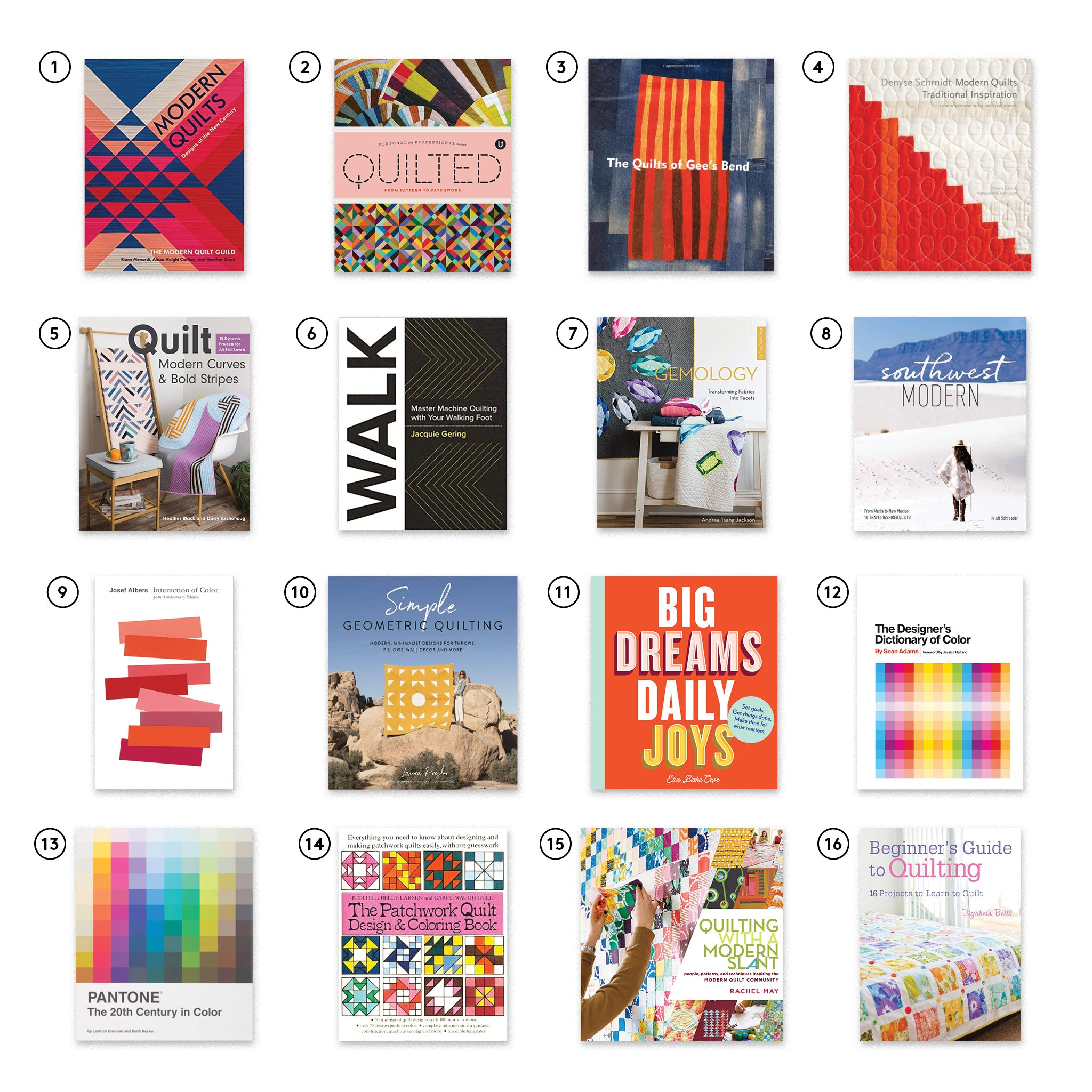TBS Must Have Quilt Books Numbered