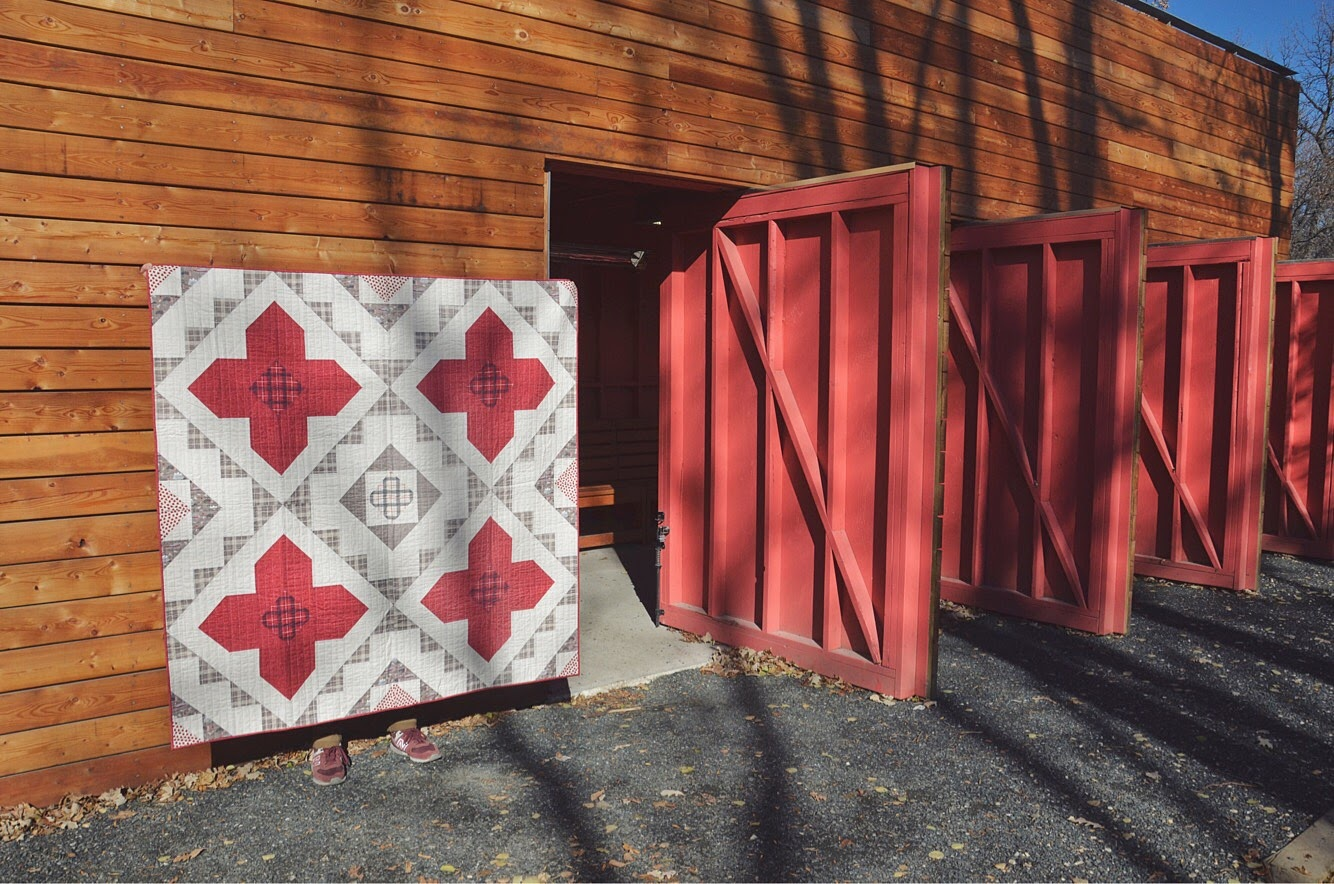 True North Spruce Woods Quilt Red Barn Doors