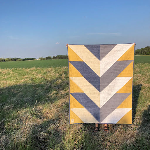 Yellow Reclaimed Fabric Pine Falls Quilt