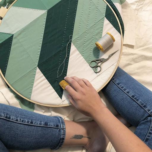 Erin Hand Quilting Green Pine Falls