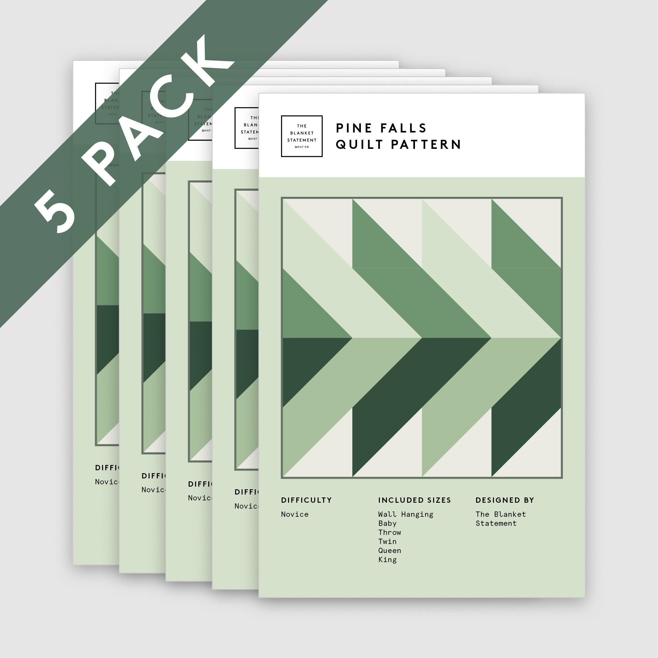 Pine Falls Paper Pattern - Pack of 5
