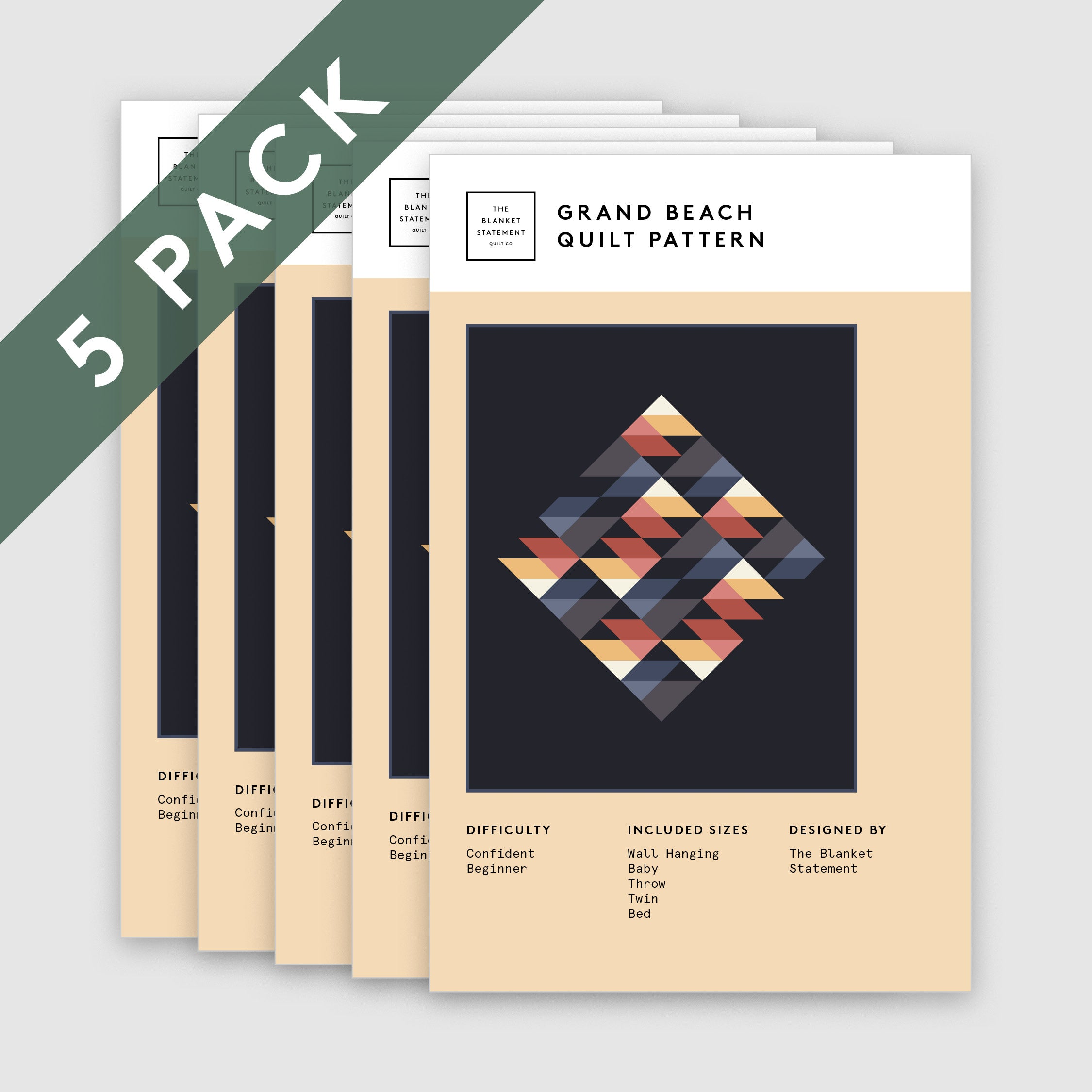 Grand Beach Paper Pattern - Pack of 5