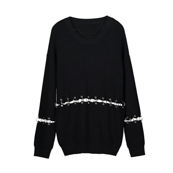 Cut Knitted Sweater