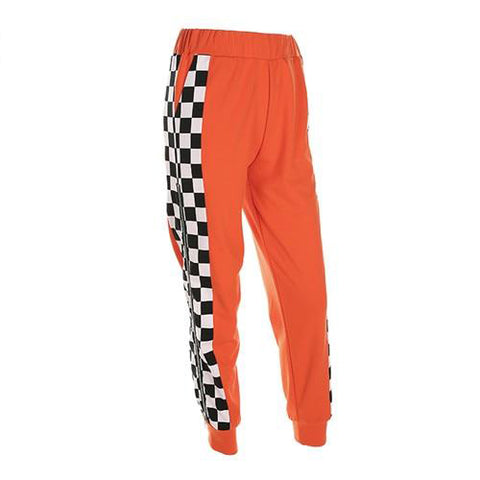 High Waist Checkered Jogger