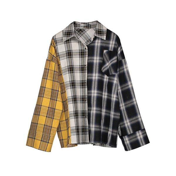 Plaid Patch Long Sleeve