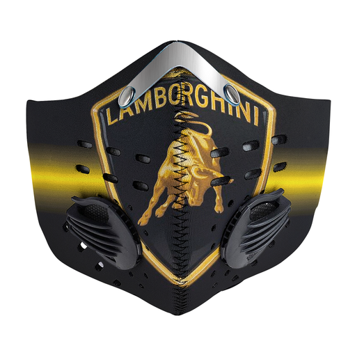 Lamborghini Logo Carbon PM 2,5 Face Mask