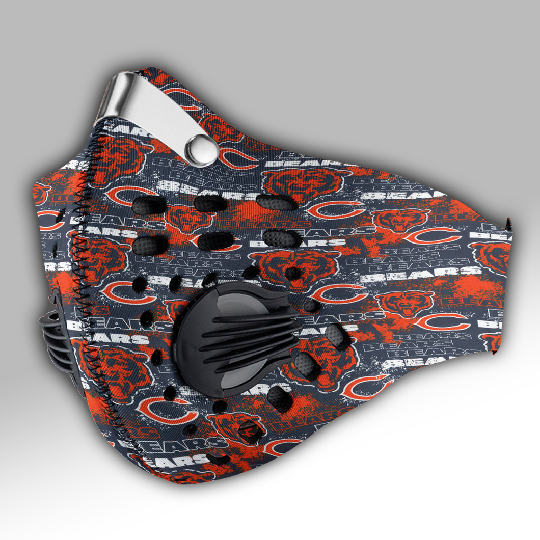 New - Chicago Bears Carbon PM 2,5 Face Mask