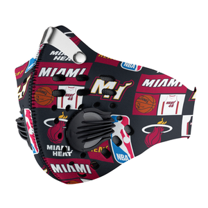 Miami Heat Carbon PM 2,5 Face Mask